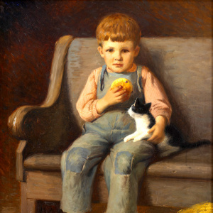 JT Harwood, Boy and Cat